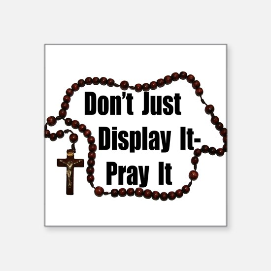 "Cute Day of prayer Square Sticker 3"" x 3"""