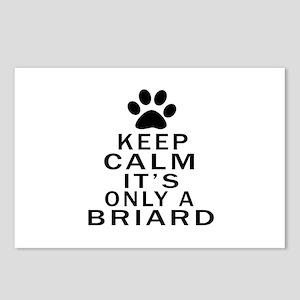 Briard Keep Calm Designs Postcards (Package of 8)