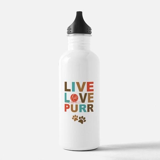 Live Love Purr Water Bottle