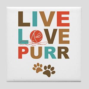 Live Love Purr Tile Coaster