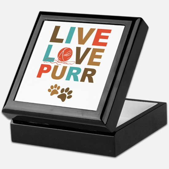 Live Love Purr Keepsake Box