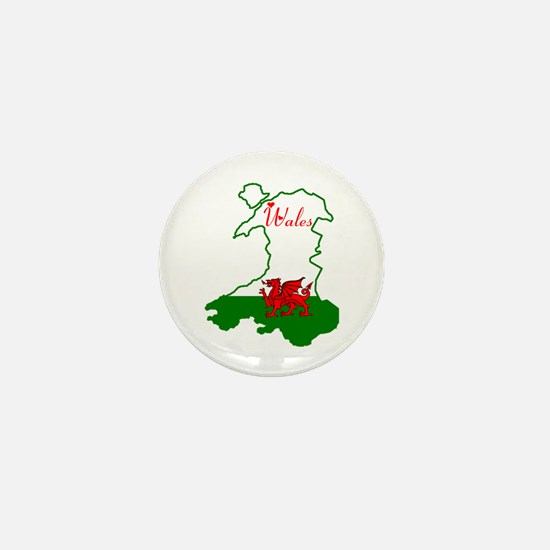 Cool Wales Mini Button