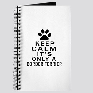 Border Terrier Keep Calm Designs Journal