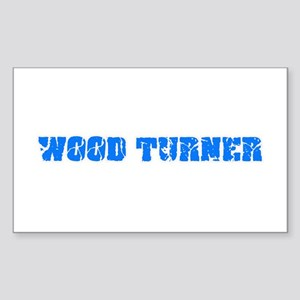 Wood Turner Blue Bold Design Sticker