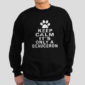 Beauceron Keep Calm Designs Sweatshirt (dark)