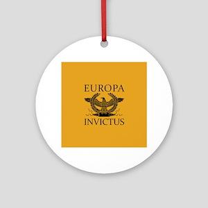 Europa Invictus Round Ornament