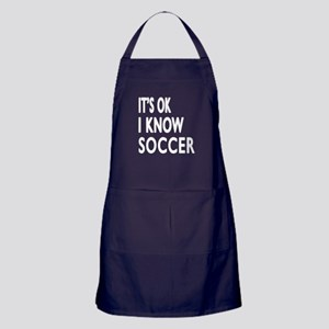 I Know Soccer Apron (dark)