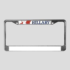glitter vote hillary License Plate Frame