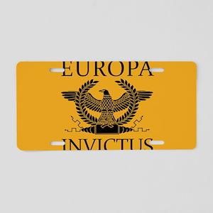 Europa Invictus Aluminum License Plate