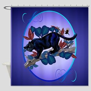Panther -Alert Hunter Shower Curtain