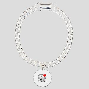 I Love Yemeni Charm Bracelet, One Charm