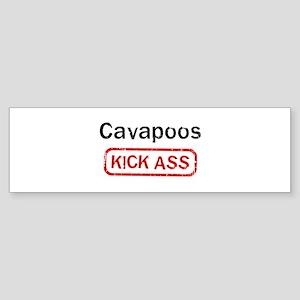 Cavapoos Kick ass Bumper Sticker