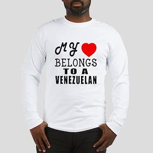 I Love Venezuelan Long Sleeve T-Shirt