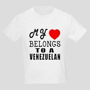 I Love Venezuelan Kids Light T-Shirt
