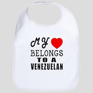 I Love Venezuelan Bib