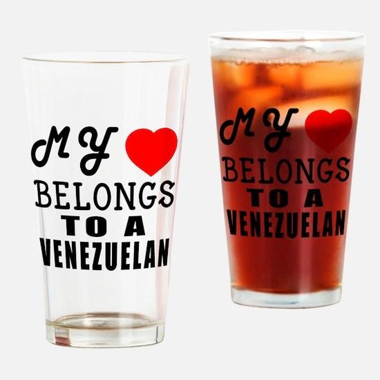 I Love Venezuelan Drinking Glass
