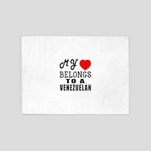 I Love Venezuelan 5'x7'Area Rug