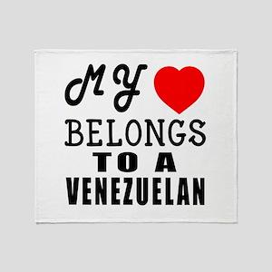 I Love Venezuelan Throw Blanket