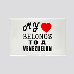 I Love Venezuelan Rectangle Magnet