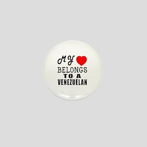 I Love Venezuelan Mini Button