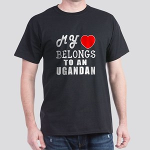 I Love Ugandan Dark T-Shirt