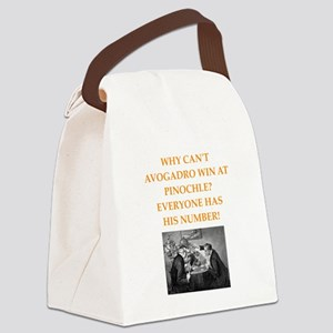 avagadro joke Canvas Lunch Bag