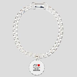 I Love Ukrainian Charm Bracelet, One Charm