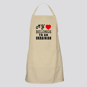 I Love Ukrainian Apron