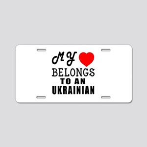 I Love Ukrainian Aluminum License Plate