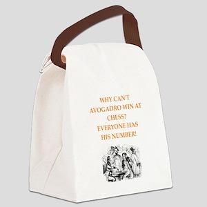 avogadro joke Canvas Lunch Bag