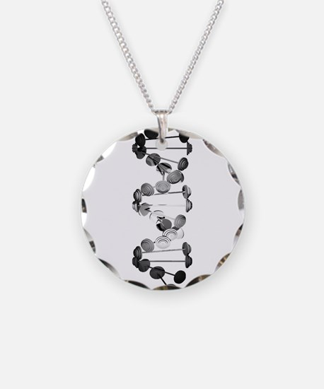 Barbell DNA Necklace