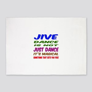 Jive dance is not just dance 5'x7'Area Rug