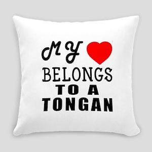 I Love Tongan Everyday Pillow