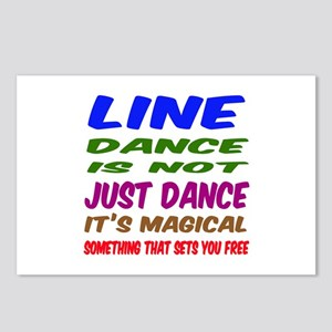 Line dance is not just da Postcards (Package of 8)