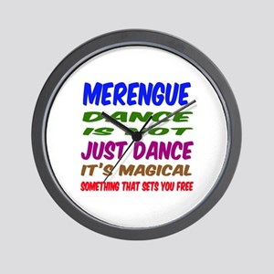 Merengue dance is not just dance Wall Clock