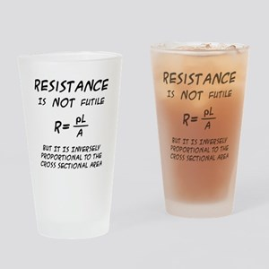 Resistance Humor Drinking Glass