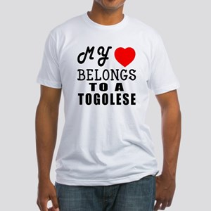 I Love Togolese Fitted T-Shirt