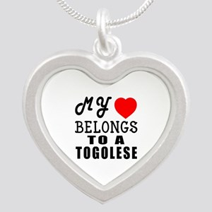 I Love Togolese Silver Heart Necklace
