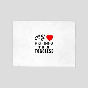 I Love Togolese 5'x7'Area Rug