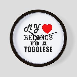 I Love Togolese Wall Clock