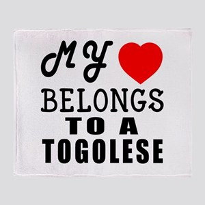 I Love Togolese Throw Blanket