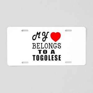 I Love Togolese Aluminum License Plate