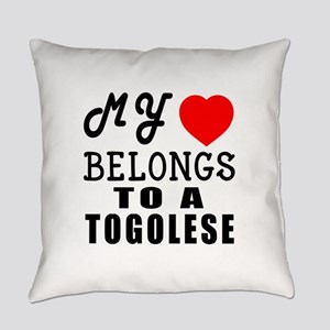 I Love Togolese Everyday Pillow