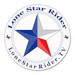 Lone Star Rider Round Car Magnet