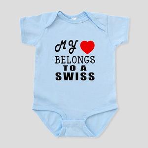 I Love Swiss Infant Bodysuit