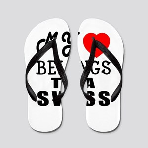 I Love Swiss Flip Flops