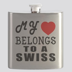 I Love Swiss Flask