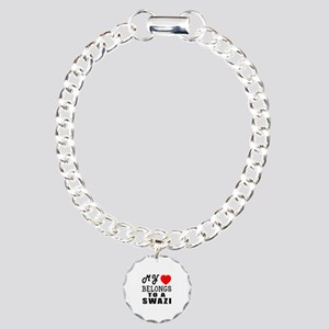 I Love Swazi Charm Bracelet, One Charm