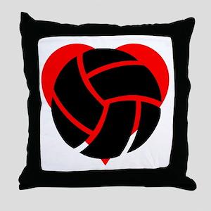 Volleyball Heart Throw Pillow