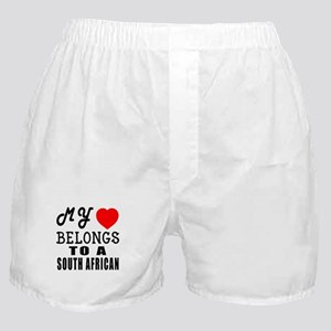 I Love South African Boxer Shorts